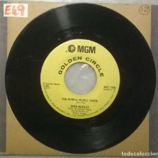 Discos de vinilo: SHEB WOOLEY. THE PURPLE PEOPLE EATER/ I CAN'T BELIEVE YOUR MINE. MGM, USA 1958 RE. Lote 183031947