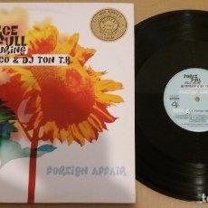 Discos de vinilo: FORCE FULL FEATURING DJ ENRICO & DJ TON T.B. / FOREIGN AFFAIR / MAXI-SINGLE 12 INCH. Lote 183045045