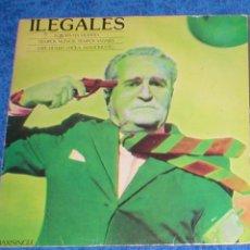 Discos de vinilo: ILEGALES MAXI 12 EUROPA HA MUERTO 1984 TIEMPOS NUEVOS TIEMPOS SALVAJES SPANISH PUNK NACIONAL RARO !!. Lote 183070358
