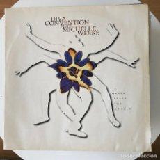 Discos de vinilo: DIVA CONVENTION - NEVER LEAVE YOU LONELY - 12'' MAXISINGLE LOGIC 1994. Lote 183072483
