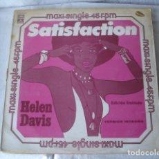 Discos de vinilo: HELEN DAVIS SATISFACTION / YESTERDAY A KING. Lote 183080392