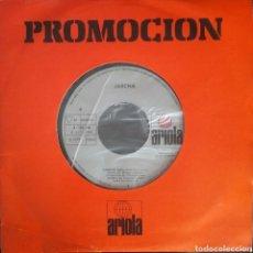 Discos de vinilo: JARCHA. SINGLE PROMOCIONAL. SELLO ARIOLA. EDITADO EN ESPAÑA. AÑO 1980. Lote 183082681