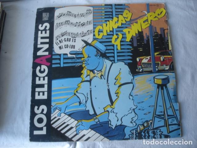 LOS ELEGANTES CHICAS Y DINERO (Música - Discos de Vinilo - Maxi Singles - Grupos Españoles de los 70 y 80)