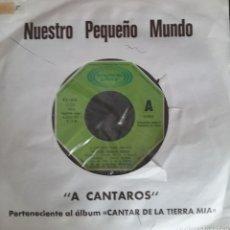 Discos de vinilo: NUESTRO PEQUEÑO MUNDO. SINGLE PROMOCIONAL. SELLO MOVIEPLAY. EDITADO EN ESPAÑA. AÑO 1975. Lote 183083367