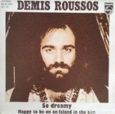 Discos de vinilo: DEMIS ROUSSOS. SINGLE. SELLO PHILIPS. EDITADO EN ESPAÑA. AÑO 1975. Lote 183085891