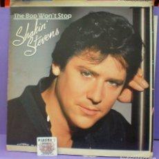 Discos de vinilo: SHAKIN' STEVENS - THE BOP WON'T STOP - LP TEST PRESSING. Lote 199205517
