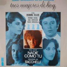 Discos de vinilo: BACCHELLI BANDA SONORA ORIGINAL DE LA PELÍCULA TRES MUJERES DE HOY SINGLE SELLO BELTER AÑO 1980. Lote 183089416