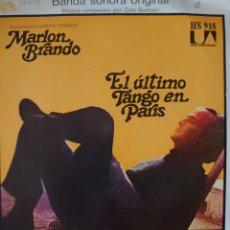 Discos de vinilo: GATO BARBIERI BANDA SONORA DE LA PELÍCULA EL ÚLTIMO TANGO EN PARÍS SINGLE SELLO UNITED ARTISTS.... Lote 183090127