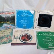 Discos de vinilo: LOTE 6 SINGLES MÚSICA CLÁSICA BUEN ESTADO. Lote 183090502