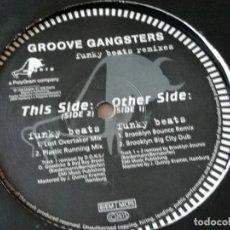 Discos de vinilo: GROOVE GANGSTERS - FUNKY BEATS (REMIXES) - 1998. Lote 183092135