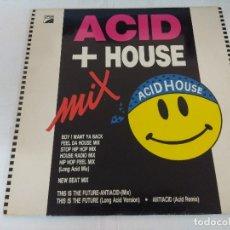 Discos de vinilo: VINILO/ACID + HOUSE MIX.. Lote 183171700