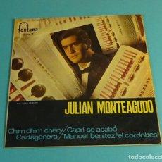 Discos de vinilo: JULIAN MONTAGUDO CON FRANK GRANADA Y SU ORQUESTA. Lote 183173935