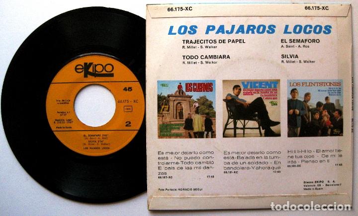 Discos de vinilo: Los Pájaros Locos - Trajecitos De Papel +3 - EP Ekipo 1967 BPY - Foto 2 - 183174473