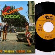 Discos de vinilo: LOS PÁJAROS LOCOS - TRAJECITOS DE PAPEL +3 - EP EKIPO 1967 BPY. Lote 183174473