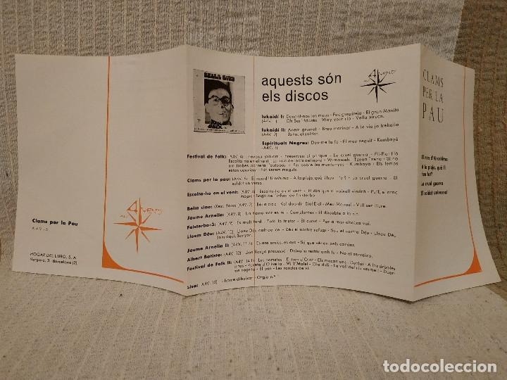Discos de vinilo: RAMON I M. CONSOL CASAJOANA ( DEL GRUP DE FOLK ) - CLAMS PER LA PAU EP 1967 - CON EL INSERTO - NUEVO - Foto 4 - 183180481