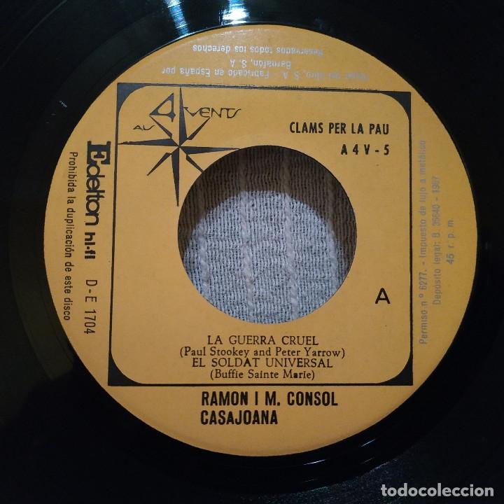 Discos de vinilo: RAMON I M. CONSOL CASAJOANA ( DEL GRUP DE FOLK ) - CLAMS PER LA PAU EP 1967 - CON EL INSERTO - NUEVO - Foto 5 - 183180481