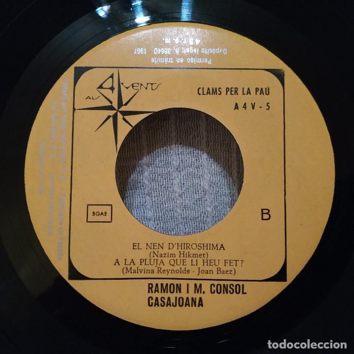 Discos de vinilo: RAMON I M. CONSOL CASAJOANA ( DEL GRUP DE FOLK ) - CLAMS PER LA PAU EP 1967 - CON EL INSERTO - NUEVO - Foto 6 - 183180481