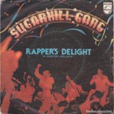 Discos de vinilo: SUGARHILL GANG,RAPPER´S DELIGHT DEL 80. Lote 183197465