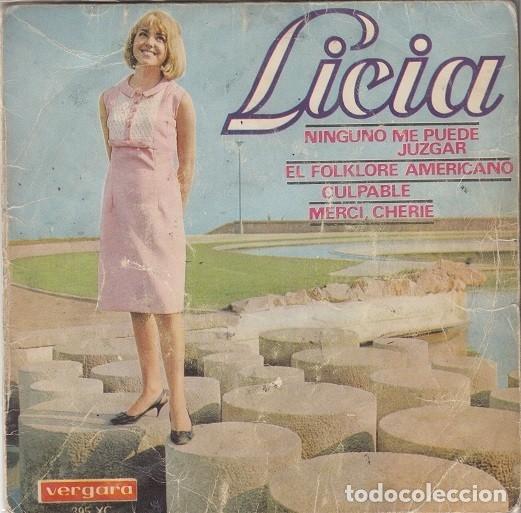 LICIA - NINGUNO ME PUEDE JUZGAR - EP RARO DE VINILO CHICA YE YE DE 1966 # (Música - Discos de Vinilo - EPs - Grupos Españoles 50 y 60)