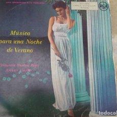 Discos de vinilo: ARTHUR FIEDLER & ORQUESTA BOSTON POPS - MÚSICA PARA UNA NOCHE DE VERANO (RCA, 1955). Lote 183204488