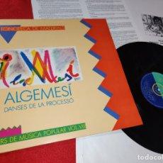 Disques de vinyle: ALGEMESI DANSES DE LA PROCESSO LP 1987 DI-FUSIO MEDITERRANIA TRADICIONAL POPULAR FOLK VALENCIA VIII. Lote 183204810