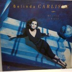 Discos de vinilo: LP-BELINDA CARLISLE-HEAVEN ON EARTH EN FUNDA ORIGINAL AÑO 1987. Lote 183206902