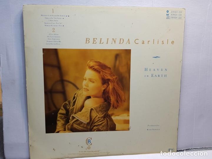 Discos de vinilo: LP-BELINDA CARLISLE-HEAVEN ON EARTH en funda original año 1987 - Foto 2 - 183206902