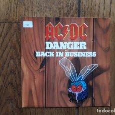 Discos de vinilo: AC/DC - DANGER + BACK IN THE BUSINESS - PROMOCIONAL. Lote 183207315