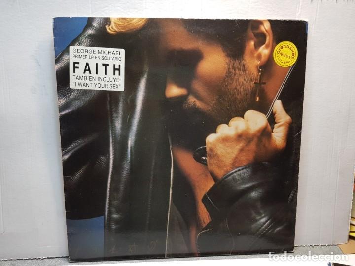 LP-GEORGE MICHAEL-FAITH EN FUNDA ORIGINAL AÑO 1987 (Música - Discos - LP Vinilo - Pop - Rock - New Wave Extranjero de los 80)