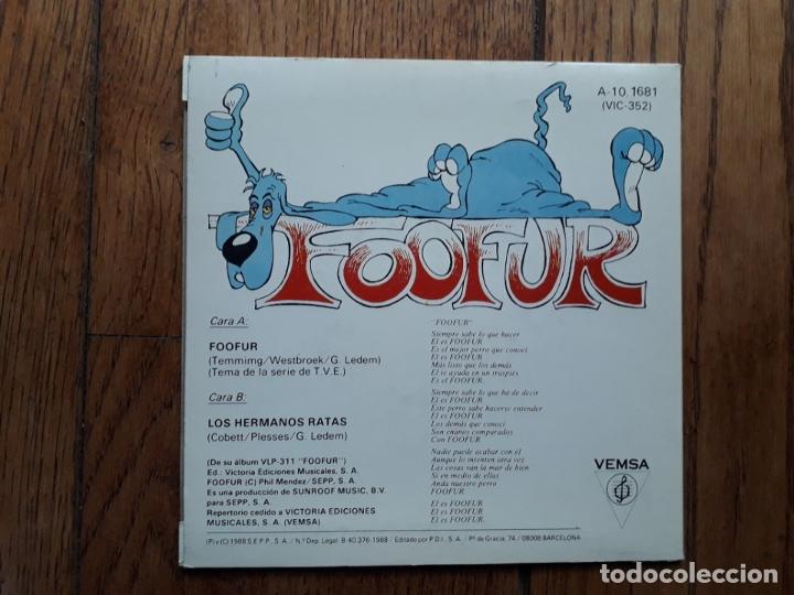 Discos de vinilo: Foofur - foofur + los hermanos ratas - Foto 2 - 183209336