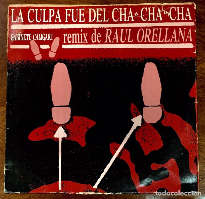 GABINETE CALIGARI. LA CULPA FUE DEL CHA CHA CHA. MAXI SINGLE. (Música - Discos de Vinilo - Maxi Singles - Grupos Españoles de los 70 y 80)