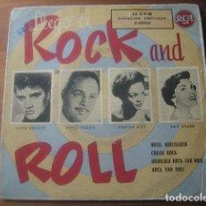Discos de vinilo: VVAA - LLEGÓ EL ROCK & ROLL ********* RARO EP RCA ESPAÑOL 1958 ELVIS PRESLEY. Lote 183228250