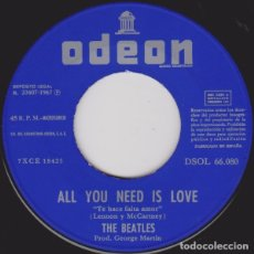 Discos de vinilo: ALL YOU NEED IS LOVE - THE BEATLES. Lote 181333483
