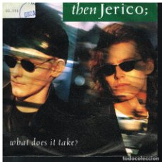 Discos de vinilo: THEN JERICO - WHAT DOES IT TAKE / JUNGLE - SINGLE 1989 - ED. ALEMANIA. Lote 183255818
