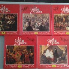 Discos de vinilo: LOTE CINCO ALBUMS MÚSICA CLASICA. Lote 183256293