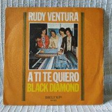 Discos de vinilo: RUDY VENTURA - A TI TE QUIERO / BLACK DIAMOND MUY RARO SINGLE DEL SELLO BELTER DE 1975 LATIN FUNK EX. Lote 183257463