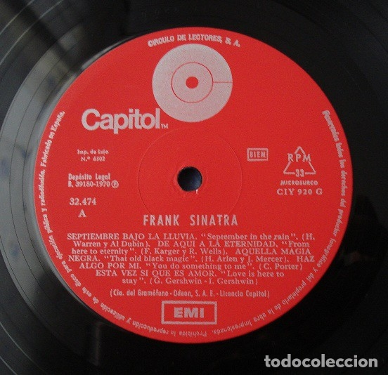 Discos de vinilo: EP Frank Sinatra - Circulo de lectores 10'' - Foto 3 - 183280395