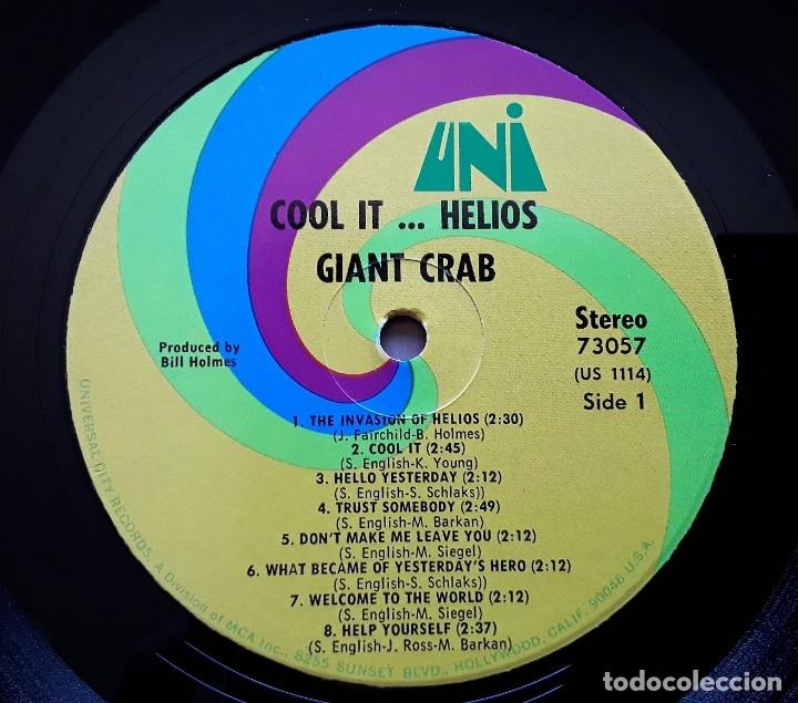 Discos de vinilo: GIANT CRAB Cool It Helios (UNI 73057 - USA 1969) PSYCHEDELIC ROCK ORIGINAL LP - Foto 3 - 183280402