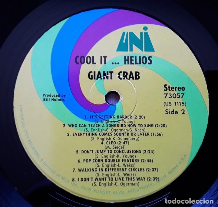 Discos de vinilo: GIANT CRAB Cool It Helios (UNI 73057 - USA 1969) PSYCHEDELIC ROCK ORIGINAL LP - Foto 4 - 183280402