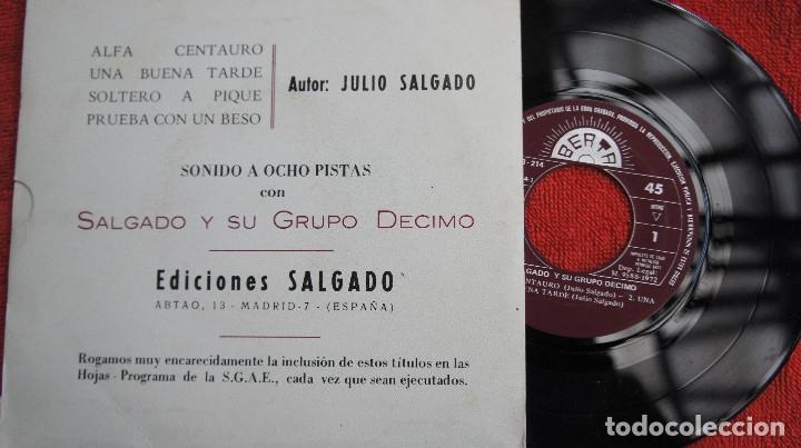 Discos de vinilo: SALGADO Y SU GRUPO DECIMO - ALFA CENTAURO + 3 - PROMO 1972 - Foto 2 - 183291070