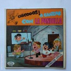 Discos de vinilo: LA PANTILLA - CHICOS A CANTAR - TELERINES EN PORTADA. Lote 183291447