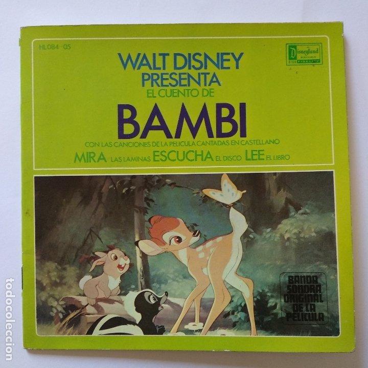 DISCO CUENTO - BAMBI - WALT DISNEY - ORIGINAL AÑOS SESENTAS (Música - Discos de Vinilo - EPs - Música Infantil)