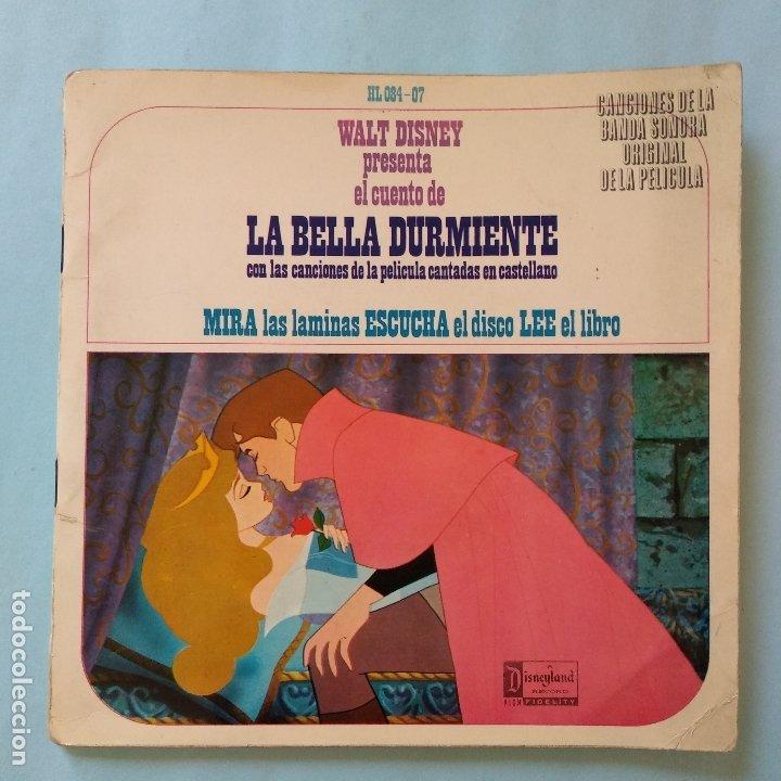 DISCO CUENTO - LA BELLA DURMIENTE - WALT DISNEY - ORIGINAL AÑOS SESENTAS (Música - Discos de Vinilo - EPs - Música Infantil)