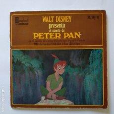 Discos de vinilo: DISCO CUENTO - PETER PAN. Lote 183292268