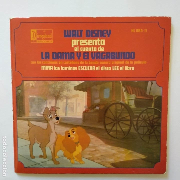 DISCO CUENTO - LA DAMA Y EL VAGABUNDO (Música - Discos de Vinilo - EPs - Música Infantil)