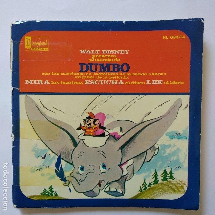 DISCO CUENTO - DUMBO - WALT DISNEY - ORIGINAL AÑOS SESENTAS (Música - Discos de Vinilo - EPs - Música Infantil)