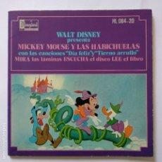 Discos de vinilo: DISCO CUENTO - MICKEY MOUSE Y LAS ABICHUELAS. Lote 183292502