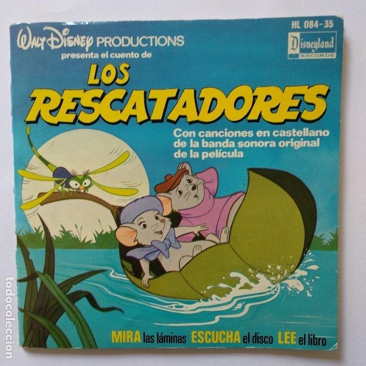 DISCO CUENTO - LOS RESCATADORES (Música - Discos de Vinilo - EPs - Música Infantil)