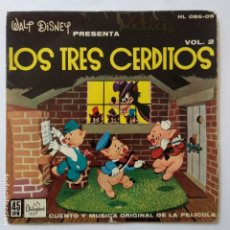 Discos de vinilo: LOS TRES CERDITOS - WALT DISNEY - ORIGINAL AÑOS SESENTAS. Lote 183292762