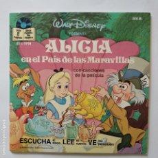 Discos de vinilo: DISCO CUENTO - ALICIA EN EL PAIS DE LAS MARAVILLAS. Lote 183292880